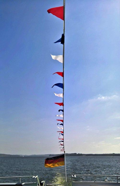 steamer  aft deck  flags