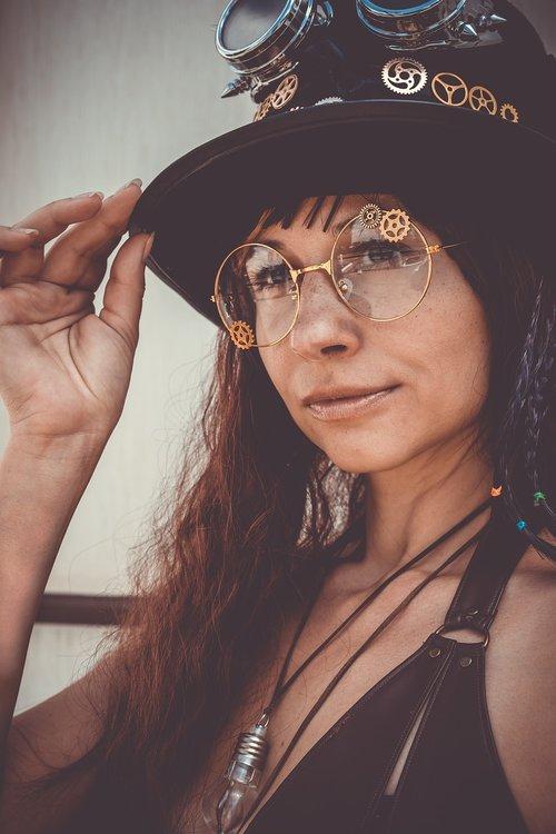 steampunk  hat  glasses