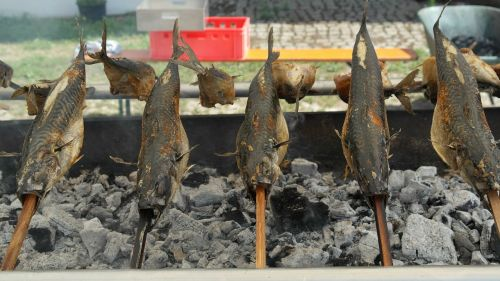steckerlfisch mackerel grill