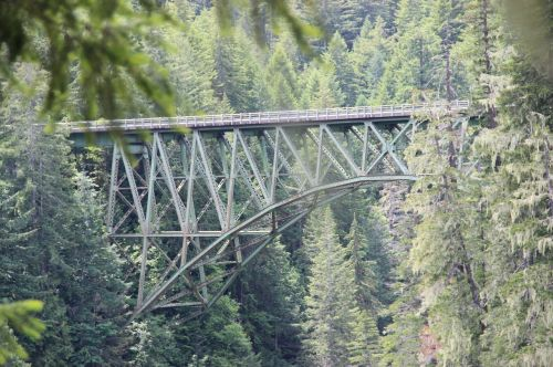 steel arch bridge gorge truss