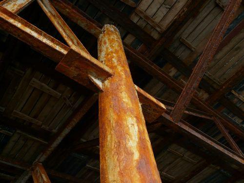 steel beams iron construction construction