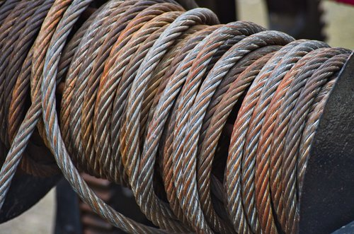 steel cable  winch  rope