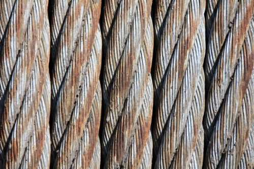 steel cables wire mesh woven