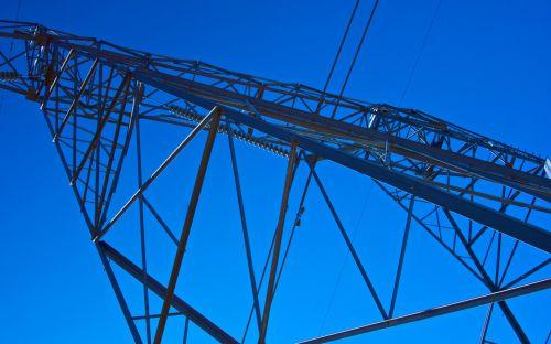 Steel Girders Of Electrical Tower