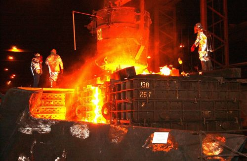 steel mill workers foundry
