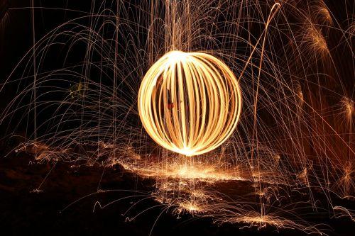 steelwool firespin fireball