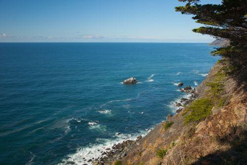 Steep Pacific Shore