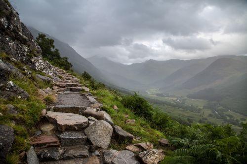 Steep Stony Path Onto Ben Nevis
