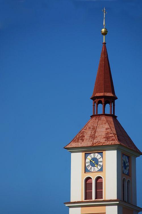 steeple clock tower church clock