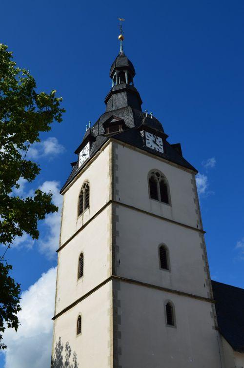 steeple clock tower church