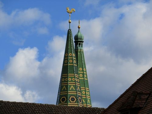 steeple towers sky