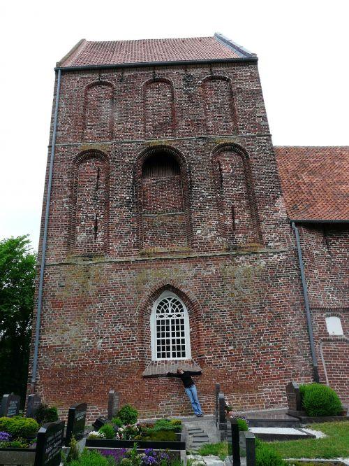 bokštas,bažnyčia,askew,vėlyvas bažnyčios bokštas pasaulyje,pasaulio rekordas,didhuseno bokštas,rytinė frisia,suurhusen,linkę