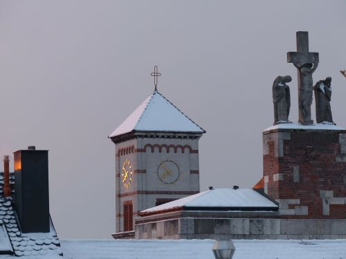 steeple church winter