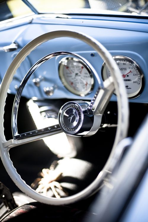 steering wheel cockpit vintage