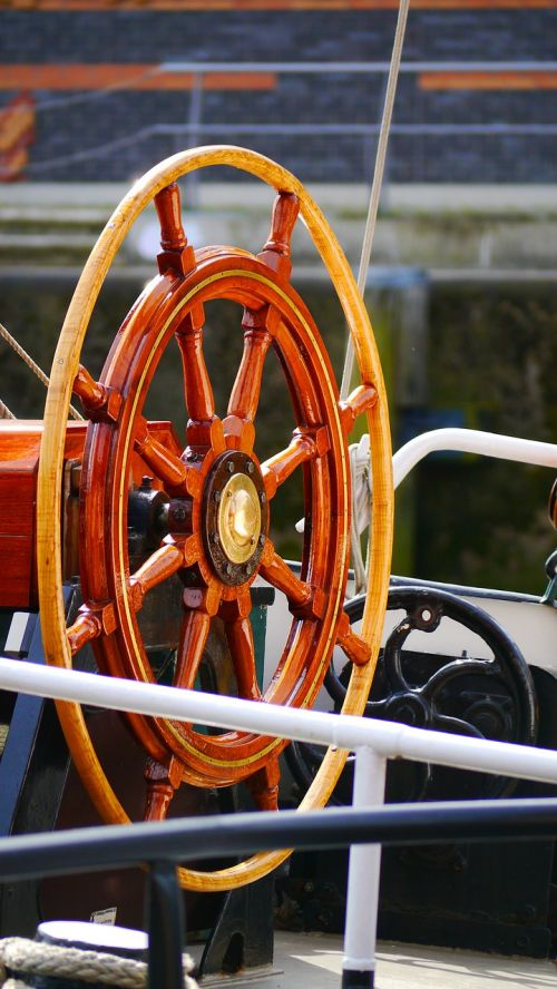 steering wheel sailing vessel wood