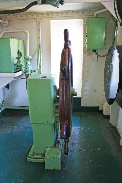 Steering Wheel Of Ship