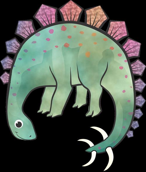 stegosaurus  dinosaur  digital illustration