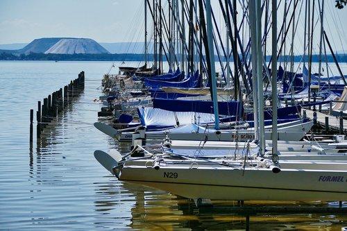 steinhuder sea  lake  sailing boats