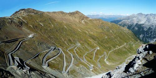stelvio yoke pass road mountain pass