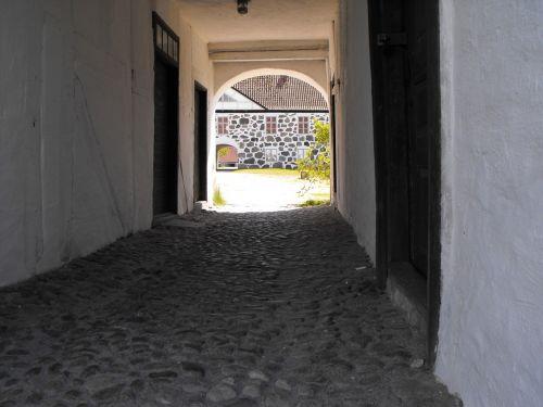 stengång cobblestone castle