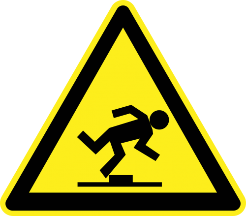 step falling tripping
