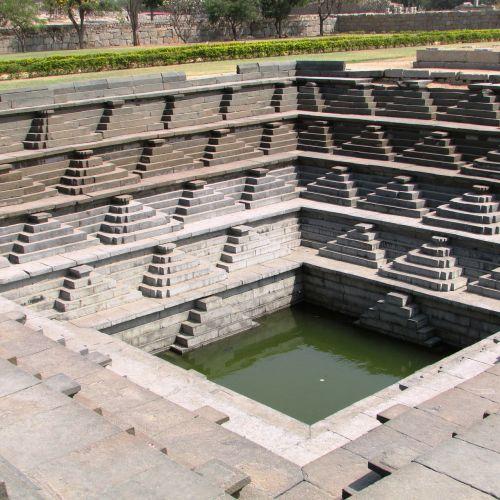 step well unesco heritage site hampi