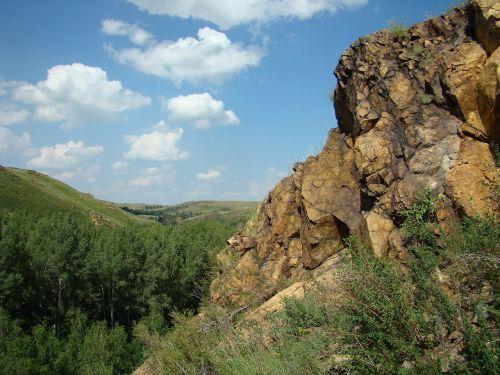 steppe rock stones
