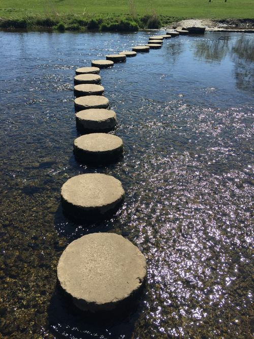 stepping stones river stepping