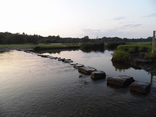 Stepping Stones At Sunset