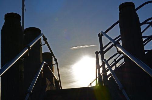 steps sunlight rails