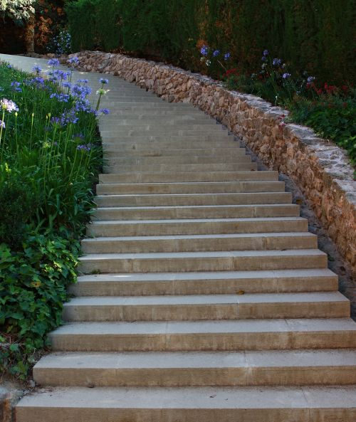 steps stairs park guell