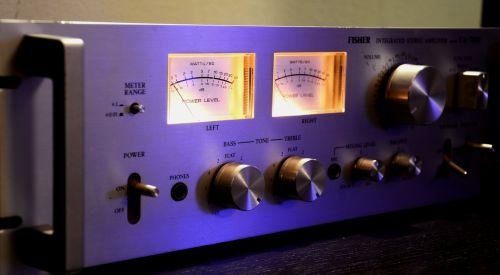 stereo amplifier music event