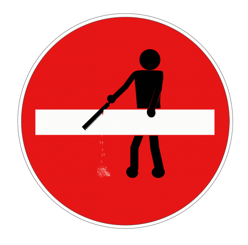 stick figure road sign traffic sign