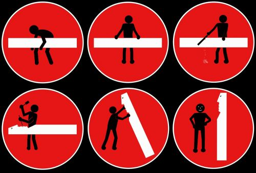 stick figure pictures history road sign