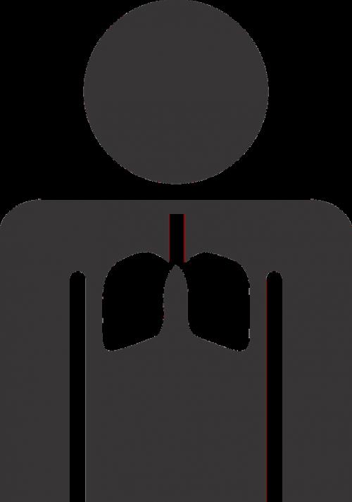 stick figure lungs figure