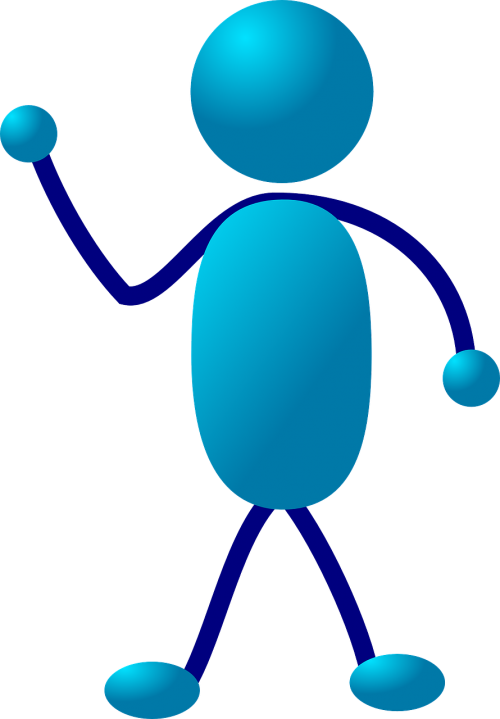 stick figure stickman blue