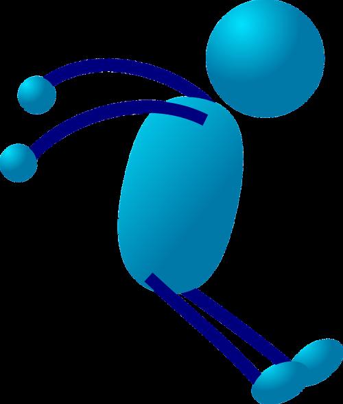 stick figure stickman blue