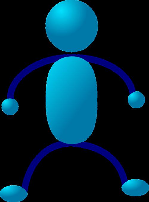 Stick figūra,matchstick žmogus,figūra,asmuo,stovintis,žmonės,žmogus,charakteris,mėlynas,vyras,nemokama vektorinė grafika