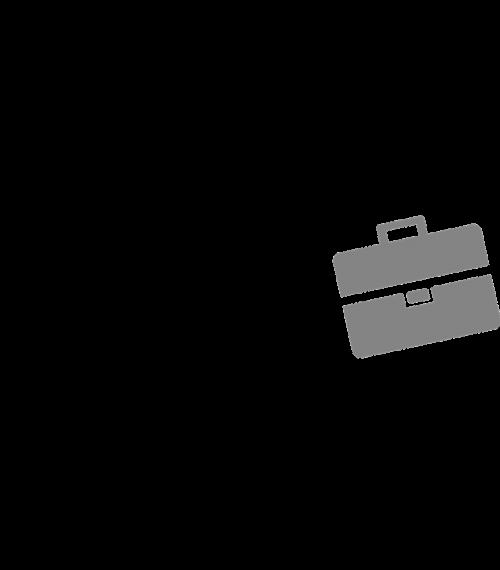 stick person running briefcase