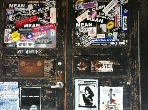 sticker worn door
