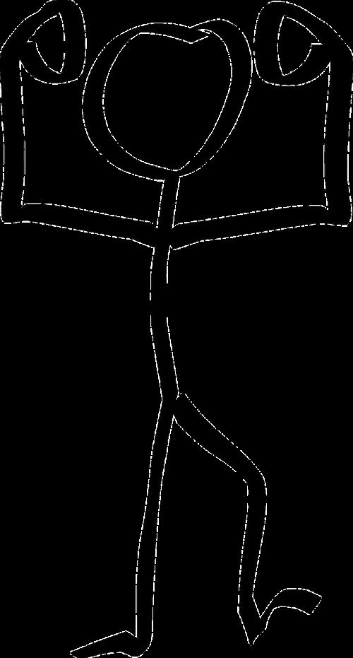 Stickman,Stick figūra,matchstick žmogus,nugalėtojas,nemokama vektorinė grafika