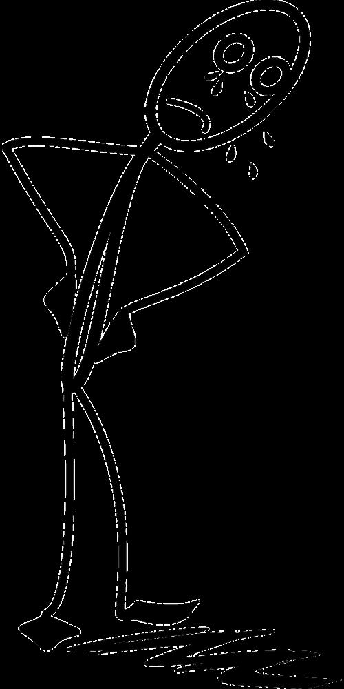 Stickman,Stick figūra,matchstick žmogus,verkti,vyras,liūdnas,nemokama vektorinė grafika