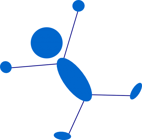 stickman blue stick figure