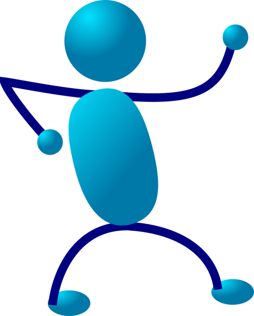 stickman stick figure blue