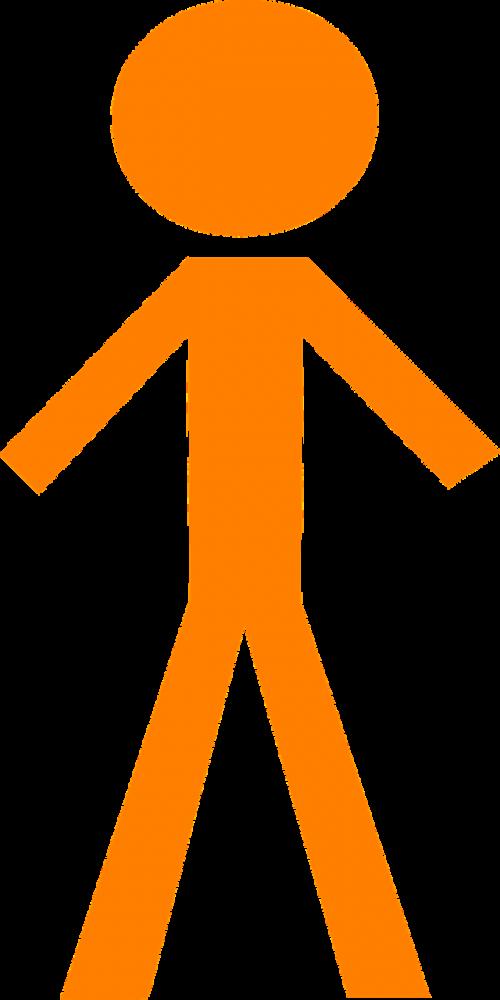 stickman person orange