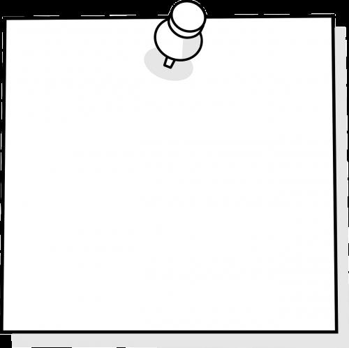 sticky note note blank