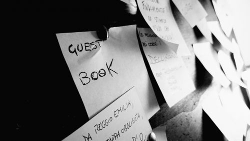 sticky note guests book post-it