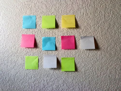 sticky notes project management business planning