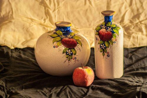 still life fruit apple
