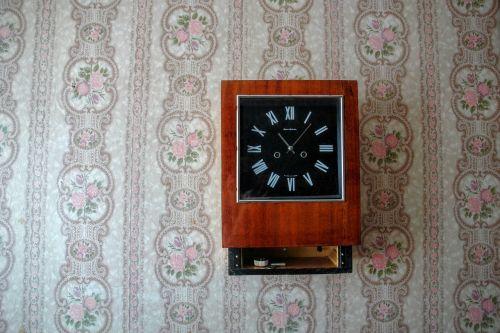 still life clock retro